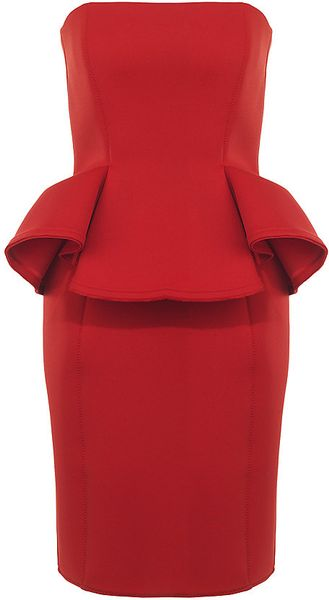 Lanvin Neoprene Dress in Red - Lyst