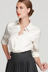 Marc By Marc Jacobs  Zandra Flocked Dot Button Down Shirt - Lyst