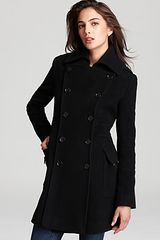 Marc New York Double Breasted Military Coat - Lyst