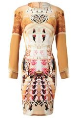 Mary Katrantzou Flake Printed Silk Dress - Lyst