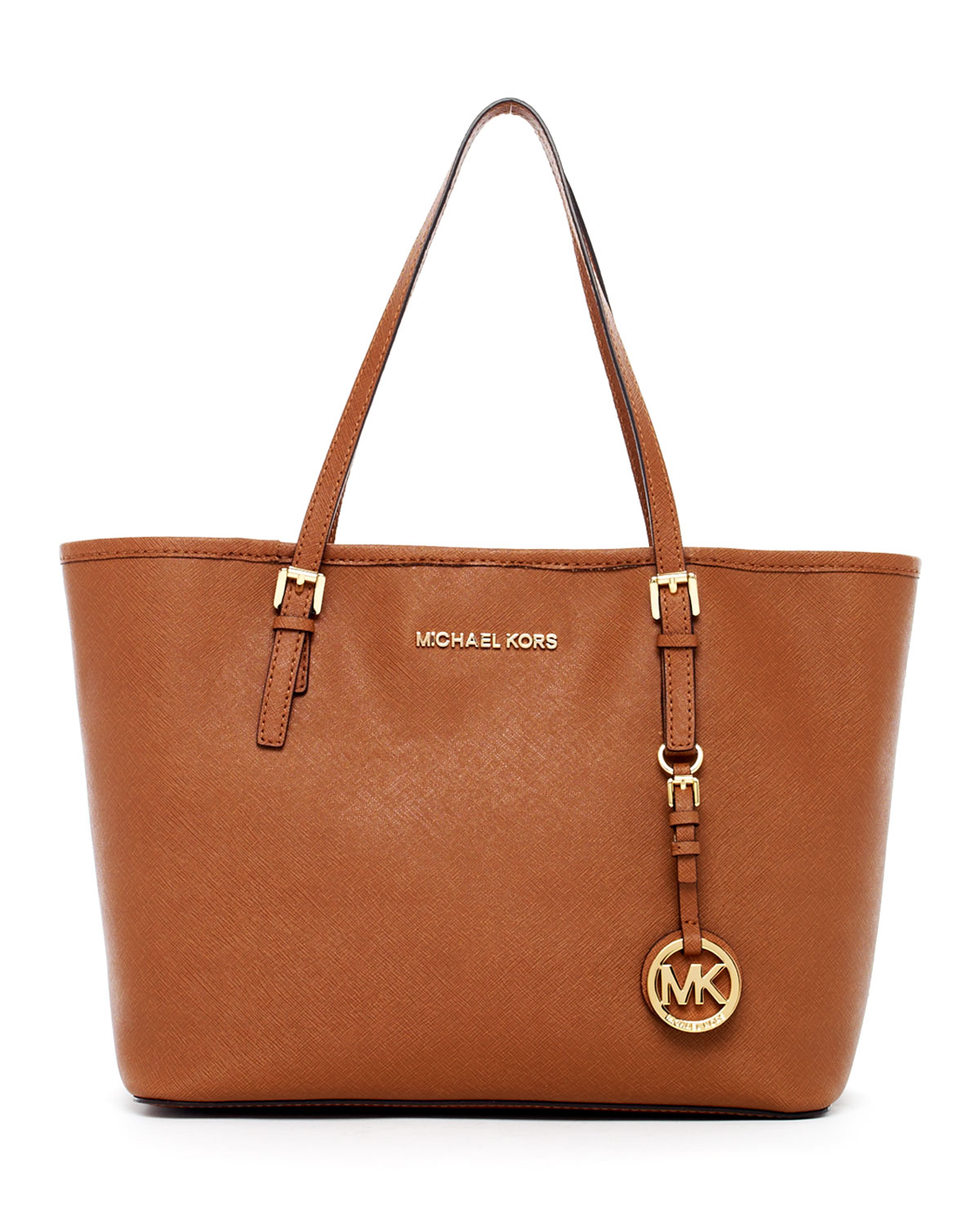 4fa4b8faac58 ... ireland lyst michael michael kors jet set travel small travel tote in  brown 9ba0f 03079