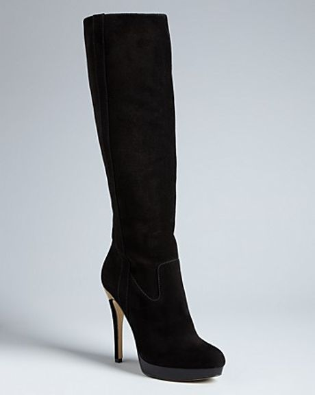 michael kors michael platform boots york high heel in