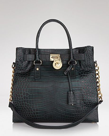 Michael Kors Michael Tote Hamilton in Green (charcoal)