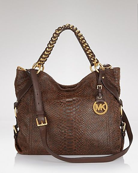 Michael Kors Michael Tote Tristan Large Shoulder in Brown (mocha)