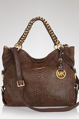 Michael Kors Michael Tote Tristan Large Shoulder in Brown (mocha) - Lyst