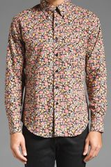 Naked & Famous Regular Shirt in Floral Print in Multicolor for Men - Lyst