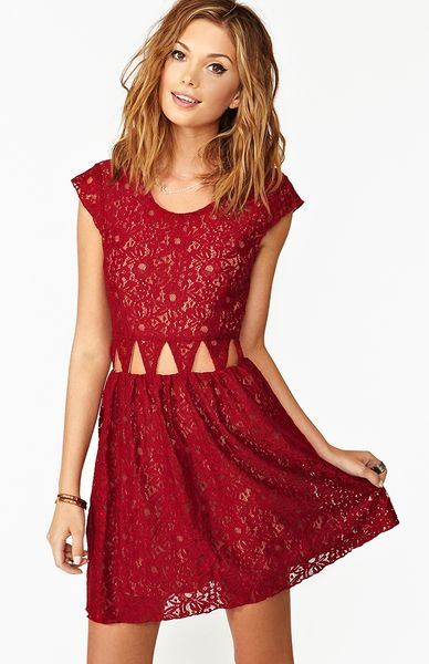 Nasty Gal Friday Night Dress In Red Wine Lyst