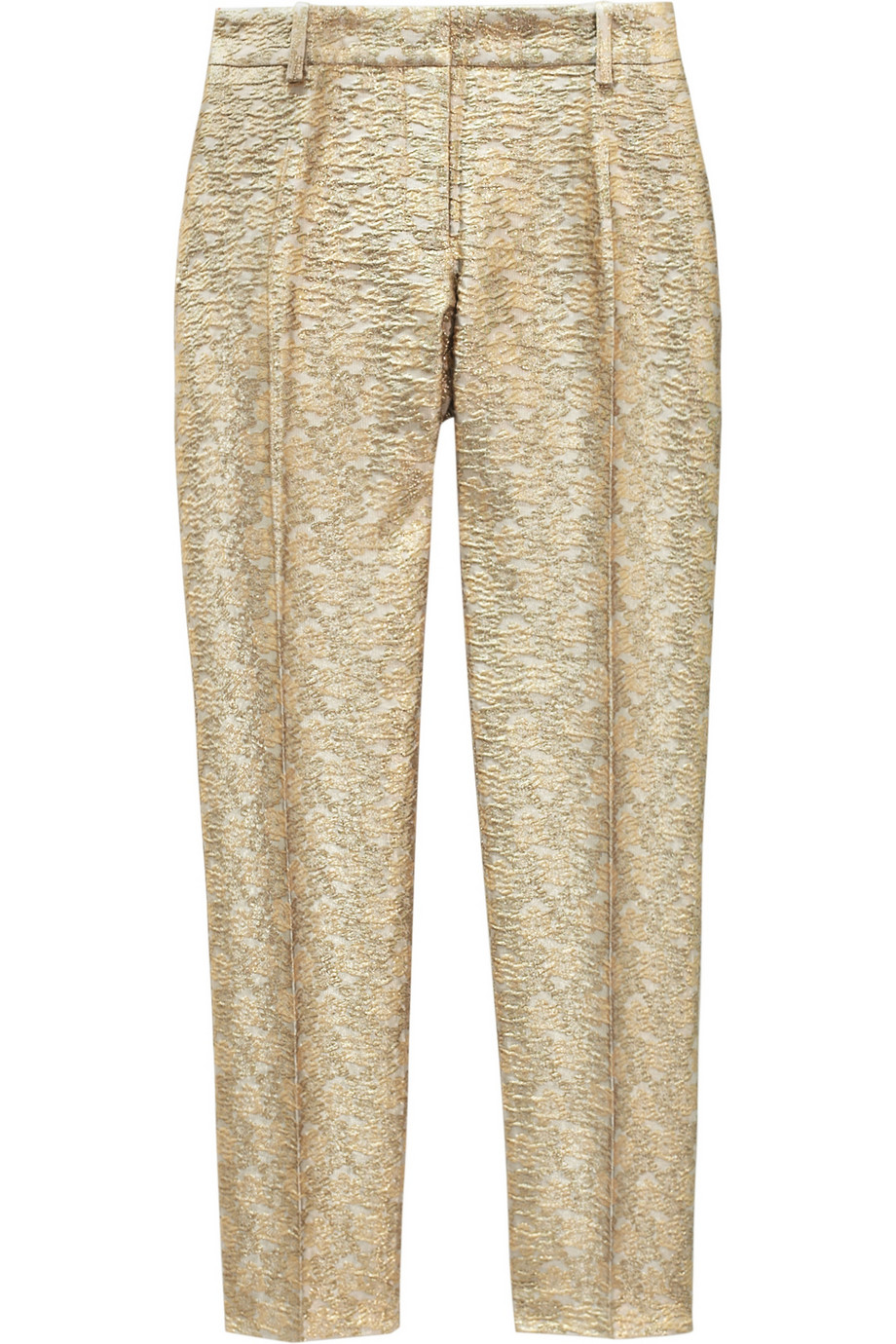 paul joe sister hector brocade straightleg pants in gold. Black Bedroom Furniture Sets. Home Design Ideas