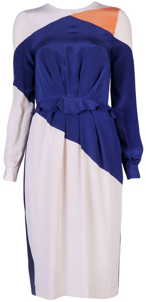 Preen Rombus Dress in Blue (navy) - Lyst