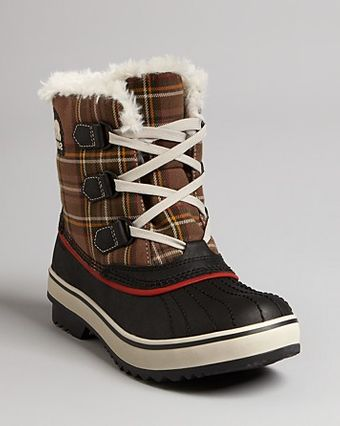Sorel Cold Weather Lace Up Flat Boots Tivoli - Lyst