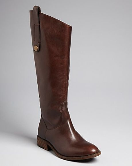 steve madden steven by flat boots satyre in brown