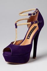 Steve Madden Steven By Peep Toe Platform Pumps Adalyn in Purple - Lyst