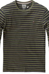 Tommy Hilfiger Hanson Long Sleeved Striped Tshirt in Gray for Men (green) - Lyst