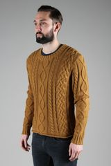 Vanishing Elephant Baker Heavy Weight Wool Cable Knit Pullover in Brown for Men (elephant) - Lyst