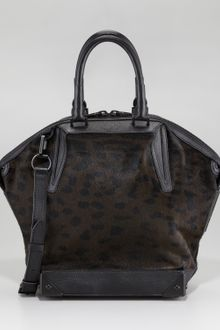 Alexander Wang Emile Leopardprint Calf Hair Satchel - Lyst