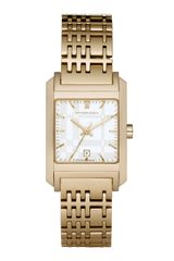 Burberry Pioneer Check Watch Golden - Lyst