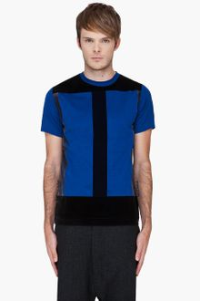 Christopher Kane Blue Flock Panel Tshirt - Lyst