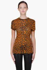 Christopher Kane Orange Leopard Print Tshirt in Orange - Lyst
