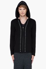 Comme Des Garçons  Back Pile Hoodie in Black for Men - Lyst