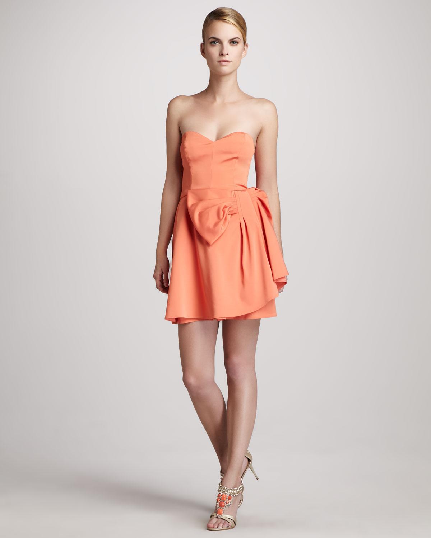 Strapless Bow Dress - Cocktail Dresses 2016