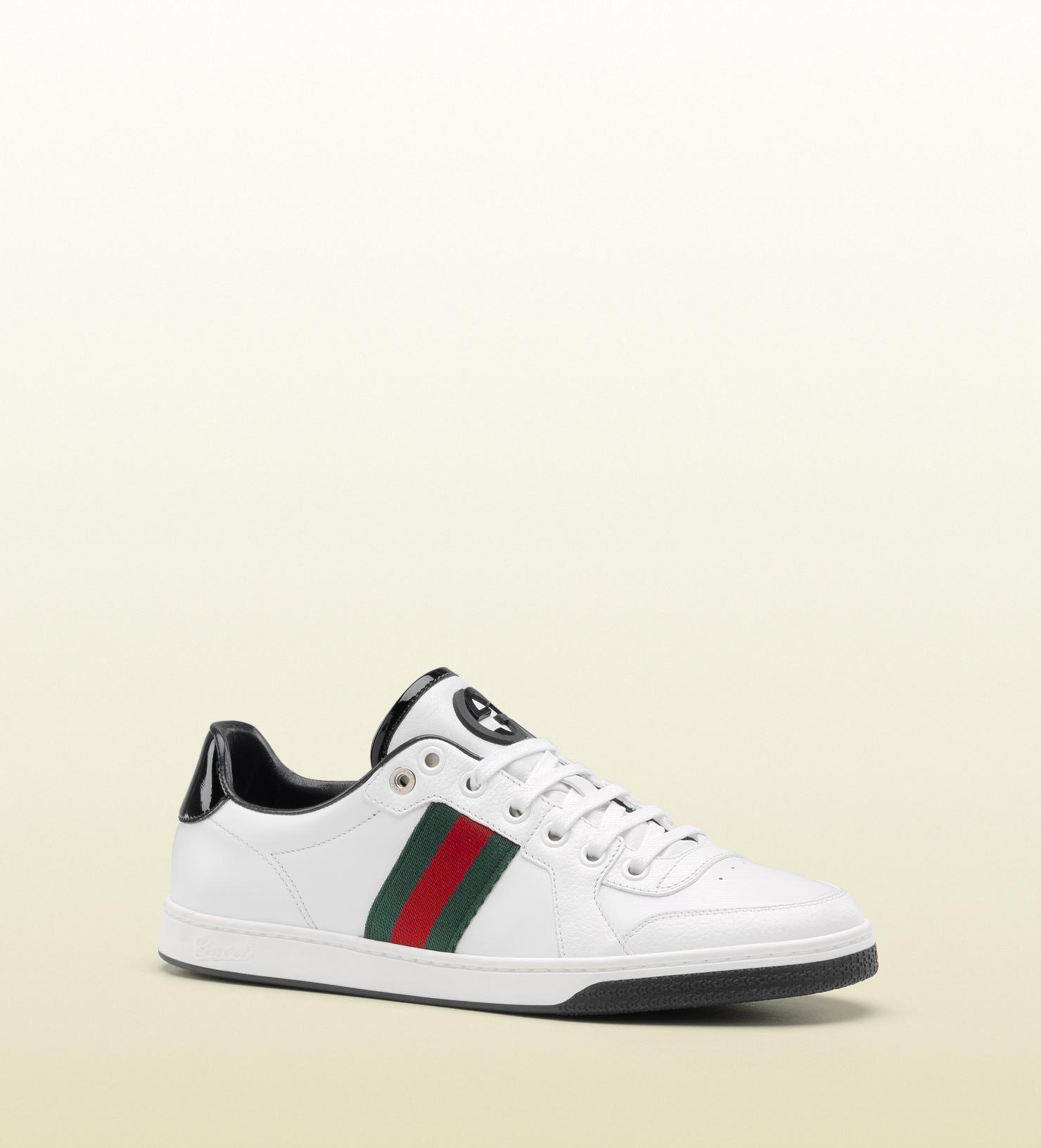 8e3ac8b4f9d Lyst - Gucci Coda Web Stripe Low Top Laceup Sneaker in White for Men