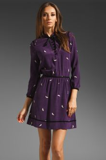 Leopard Print Dress on Juicy Couture Royal Purple Leopard Print Silk Dress In Purple   Lyst
