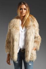 Juicy Couture Faux Fur Jacket - Lyst