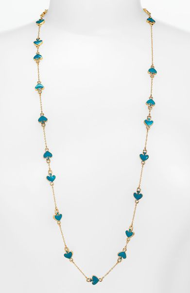 Kate Spade Spade To Spade Station Necklace in Blue (turquoise) - Lyst