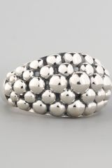 Lagos Medium Sterling Silver Bold Caviar Ring - Lyst
