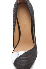 L.a.m.b. Harlie Ii Suede Pumps in Black - Lyst