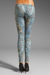 Mcq By Alexander Mcqueen High Print Legging in Blackmulticolor in Blue (black & multicolor) - Lyst