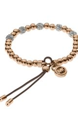 Michael Kors Bead Stretch Bracelet Rose Golden - Lyst
