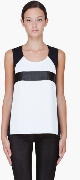 Rag & Bone White Combo Lara Tank Top in White - Lyst