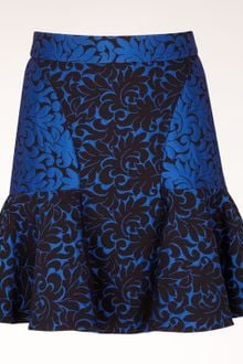 Stella McCartney Cornflower Leaf Brocade Jacquard Patty Skirt - Lyst