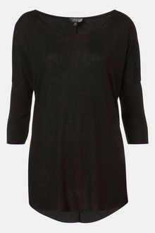 Topshop Burnout Drop Shoulder Top - Lyst