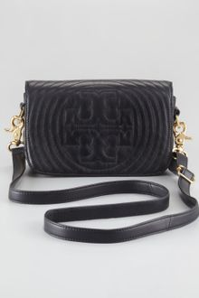 Tory Burch Stitched Logo Adjustable Mini Bag - Lyst