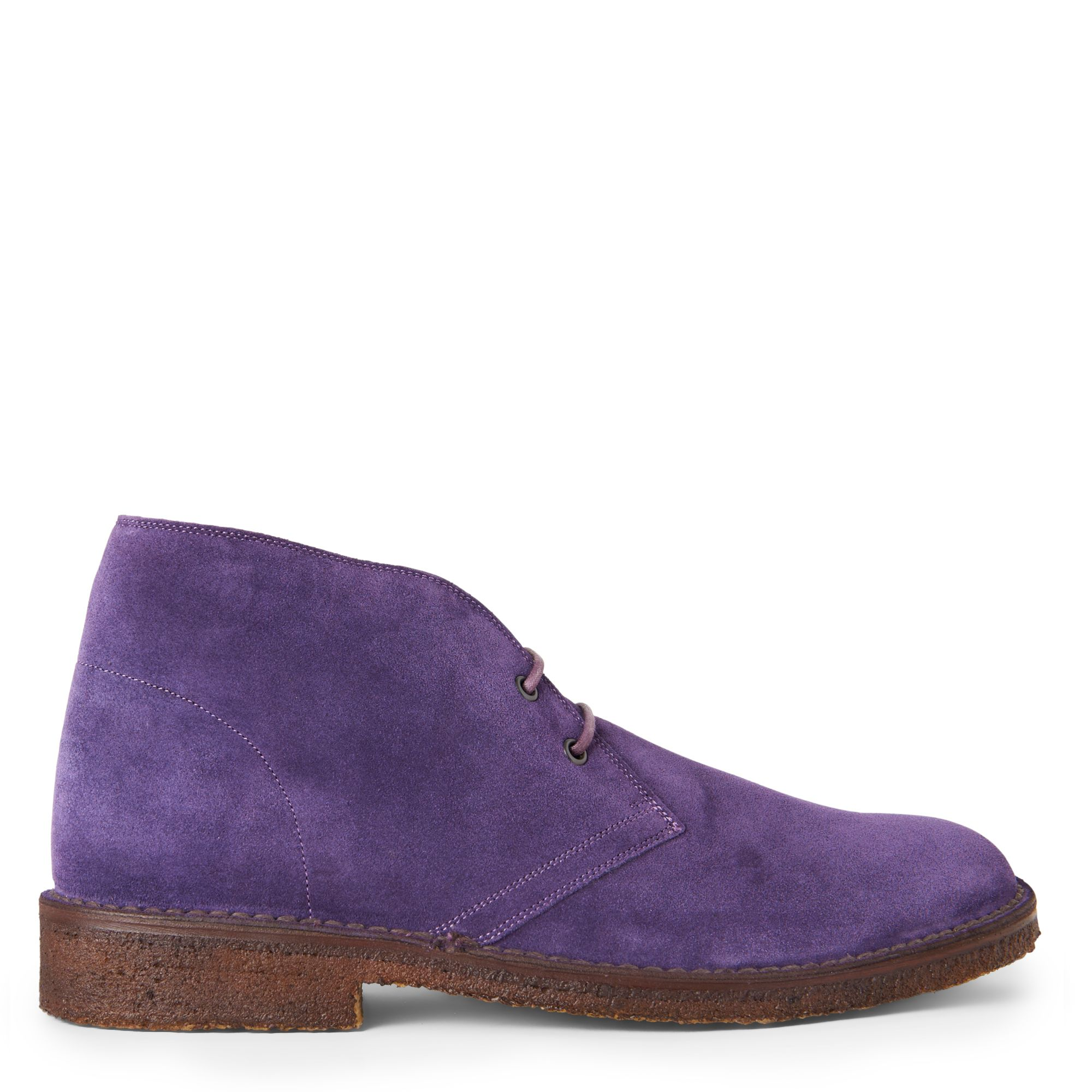 ralph kelby split suede chukka boots in purple for