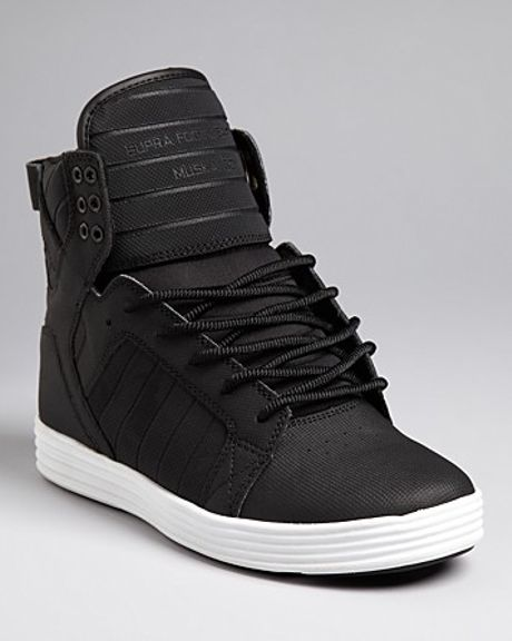 Black High Top Tennis Shoes