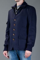 Vivienne Westwood Two Layer Jacket in Blue for Men - Lyst
