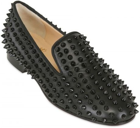 Christian Louboutin Rolling Nappa Spikes Loafers in Black - Lyst