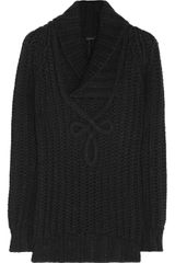 Gucci Chunky Knit Wool Blend Sweater - Lyst