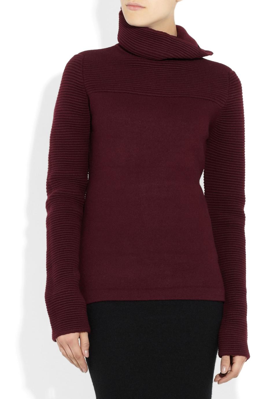 haider ackermann wool turtleneck sweater in purple lyst. Black Bedroom Furniture Sets. Home Design Ideas