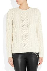 Joseph Cableknit Wool and Cashmere Blend Sweater in Beige - Lyst