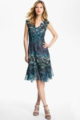 Komarov Print Fit Flare Dress - Lyst