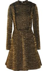 Lanvin Metallic Brocade A-Line Dress - Lyst