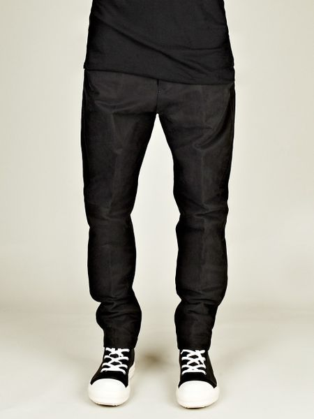 Rick Owens Rick Owens Mens Astaire Trouser in Black for Men