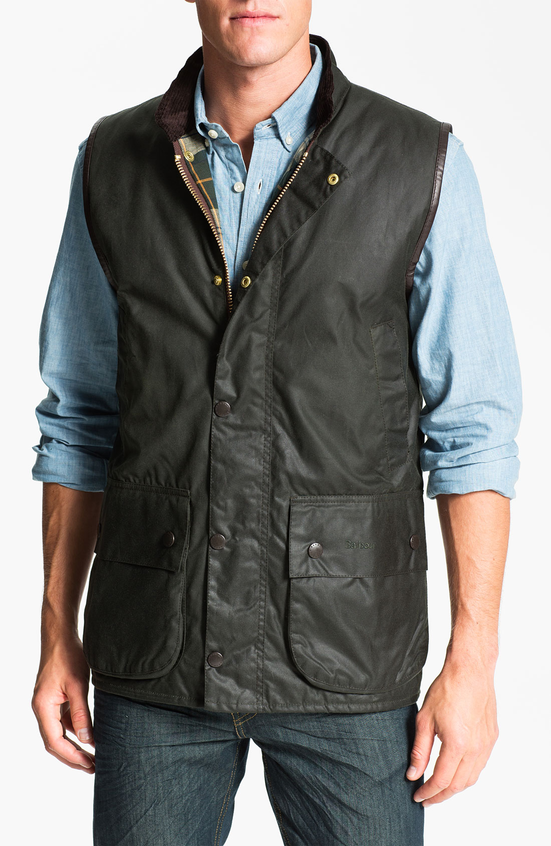 Barbour Westmorland Vest In Gray For Men Sage Lyst