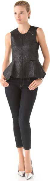 Elizabeth And James Yumi Peplum Top in Black