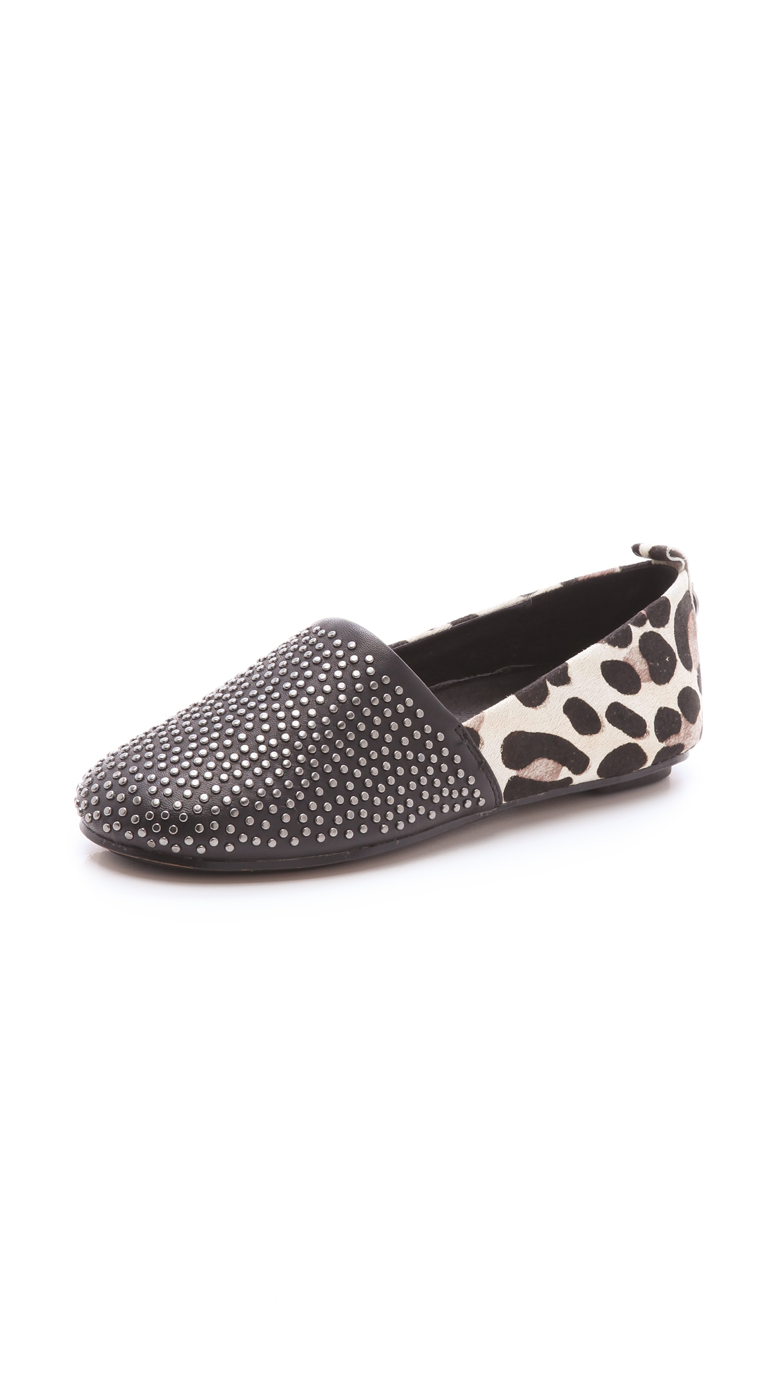 67f44aed5add House of Harlow 1960 Haircalf Stud Kye Flats in Black - Lyst