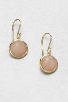 Ippolita Peach Moonstone and 18k Yellow Gold Earrings - Lyst